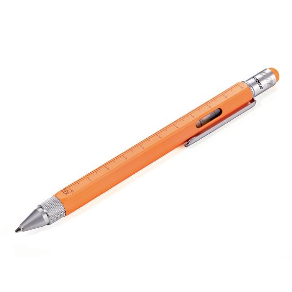 Multitasking Design Kugelschreiber von TROIKA - neon orange.