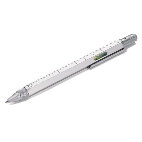 Multitasking Design Kugelschreiber von TROIKA - silber.