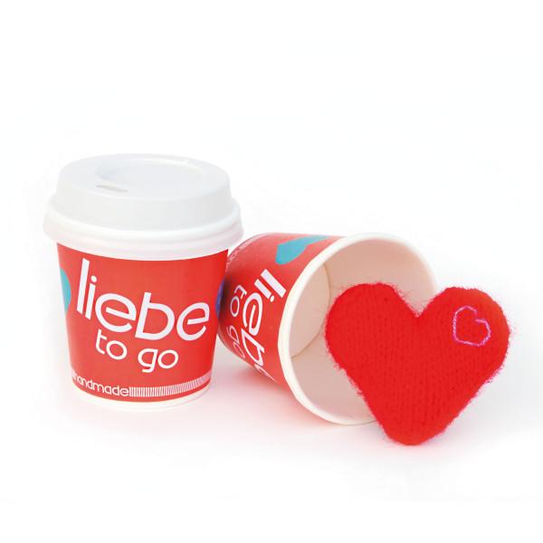 Liebe to go Becher - Herz
