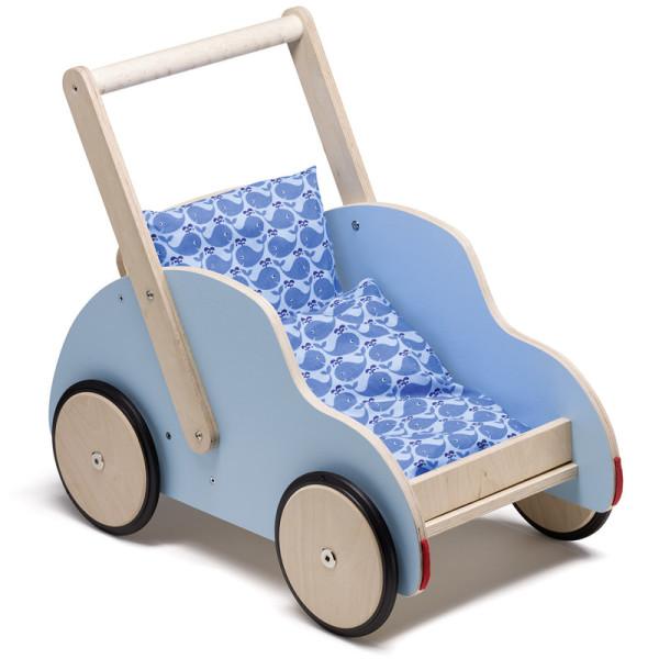 Schiebewagen / Lauflernwagen Little Toni inkl. Bettchen Blue Walfisch
