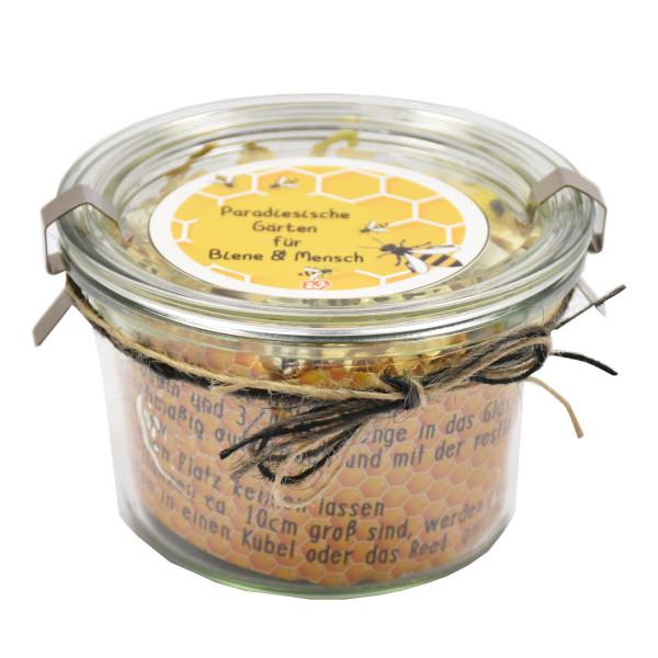 Bienenwiese im Original Weckglas von Wunderle - Mitbringsel und Geschenk für Natur- und Bienenfreunde!