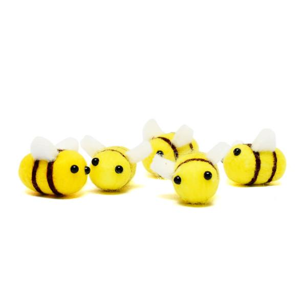 Süße Filz Bienen zum Basteln, Verschenken und Dekorieren von Wunderle.