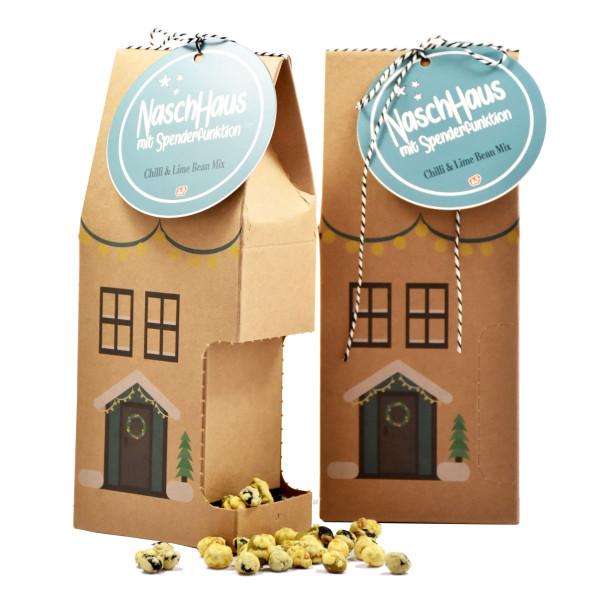 Wunderle Naschhaus Weihnachtshaus - Salt Chilli & Lime Bean Mix. XMAS, Weihnachten, Advent, Wichteln - Geschenk.