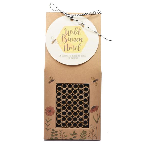 XL Bienenhotel - Insektenhotel aus Naturpappe - Wildbienen Hotel XL von Wunderle - nachhaltig aus Pappe (FSC + Sojaverklebung).