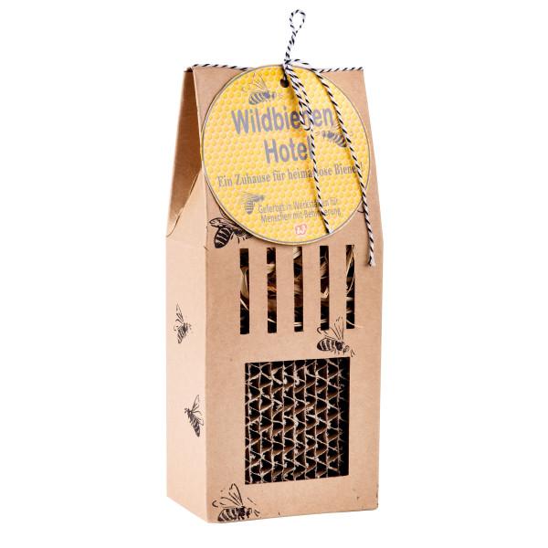Bienenhotel - Insektenhotel aus Naturpappe - Wildbienen Hotel Wunderle - nachhaltig
