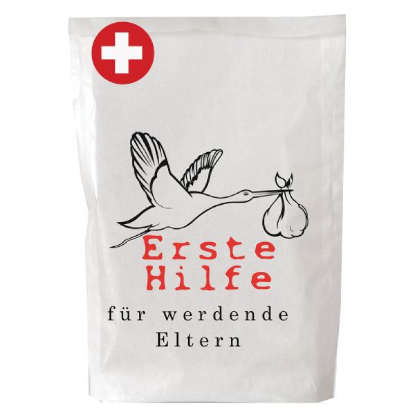 Wundertüte - Erste Hilfe - von Wunderle. Geschenktüte für werdende Eltern. Tüte zur Geburt.