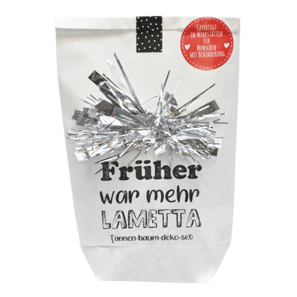 Wundertüte Deko Weihnachten - Früher war mehr Lametta - von Wunderle. Tannenbaum Deko Geschenktüte.