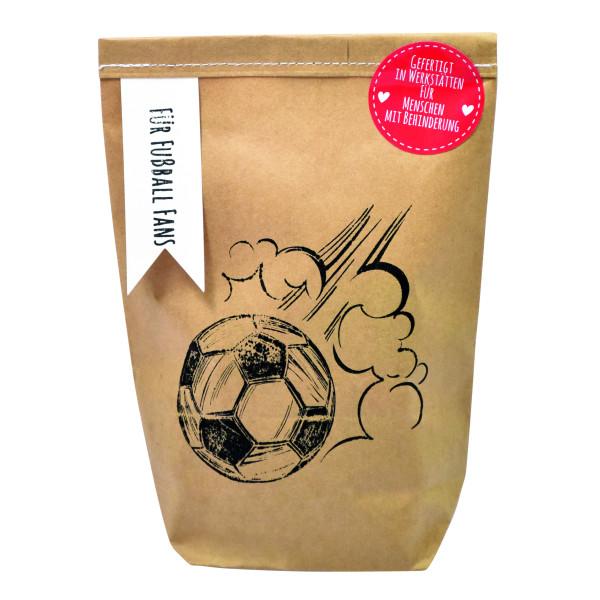 Geschenk für Fußball-Fans! Wundertüte Für Fußballfans von Wunderle. Braune Geschenktüte für Fußballfreunde