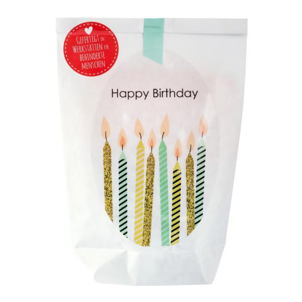 Wunderle Wundertüte Happy Birthday: nette Kleinigkeiten zum Geburtstag, verpackt in einer netten Geschenktüte! Mitbringsel zum Geburtstag!