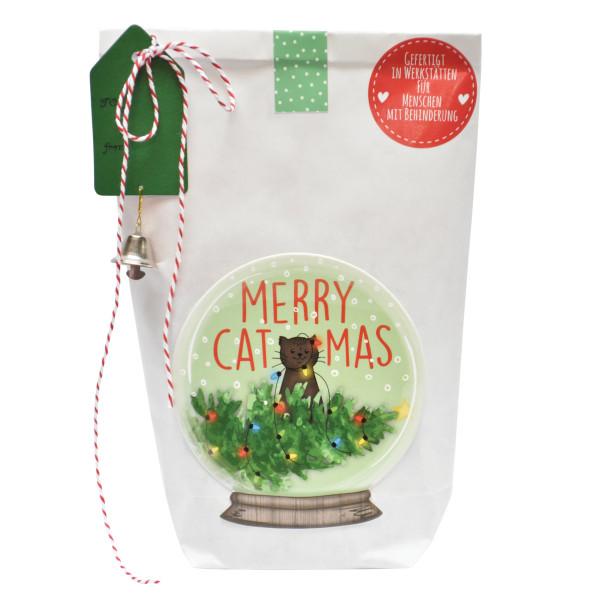 Wunderle Wundertüte Katzen Weihnachtstüte Merry Catmas. Befüllt mit zauberhaften Kleinigkeiten. Geschenktüte Katzenfreunde.