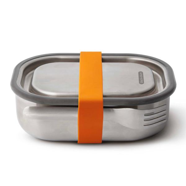 Lunchbox mit Gabel 0,6 l Edelstahl, orange