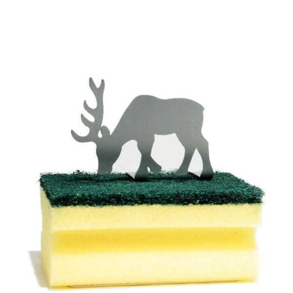 Schwammhalter Clean Green - Hirsch