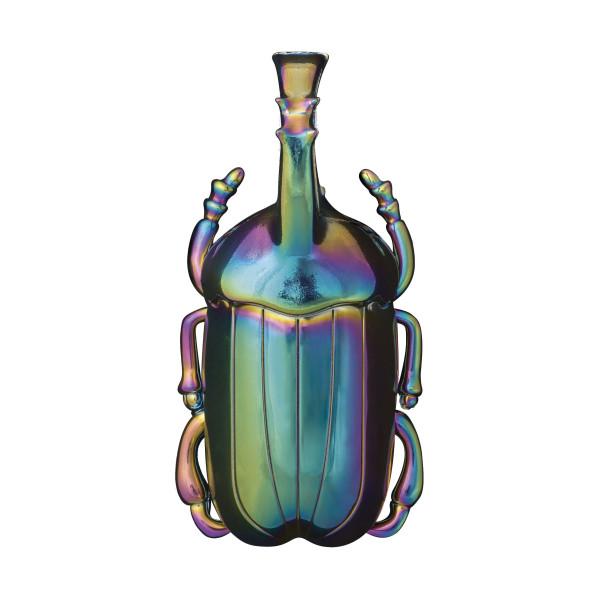 Flaschenöffner INSECTUM schillernd - Doiy Design. Käfer Flaschenöffner bunt - bottle opener. Kapselheber - ausgefallene Flaschenöffner Insekt Nashornkäfer.