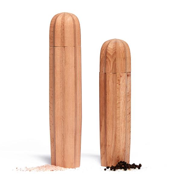 Kaktus Salzmühle und Pfeffermühle von Doiy Design. Gewürzmühlen Set Kaktus CACTI.