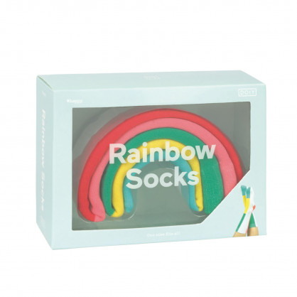 Rainbow Socks von doiy design - farbenfrohe Regenbogen Fashionsocken