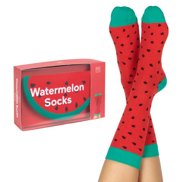 Fruchtige Wassermelonen Socken von doiy design. Watermelon Socks - Fashionsocken von doiy.