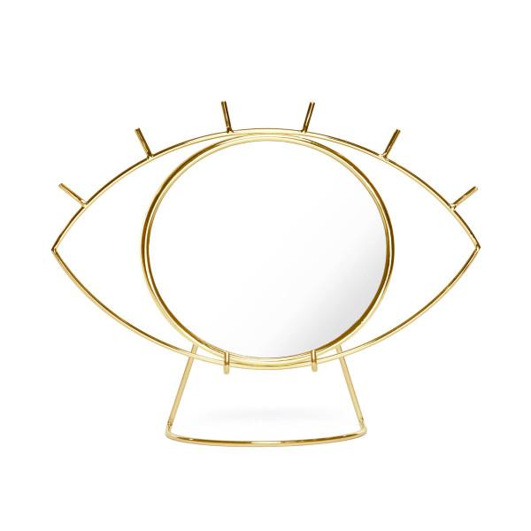Augen auf! Hier kommt der attraktive Schminkspiegel Cyclops in Form eines Auges. Goldener DOIY Design Tischspiegel - Make Up Spiegel