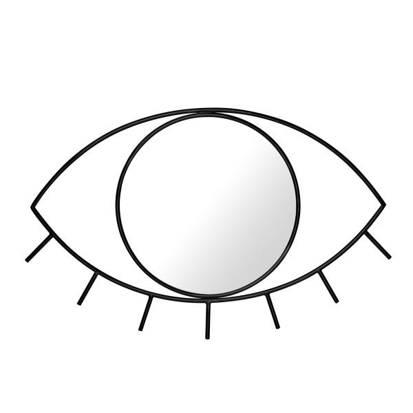 Wandspiegel Cyclops M - schwarzer Augen Spiegel Cyclops - DOIY Design - Dekospiegel - Badspiegel - Eye - Makeup Spiegel - Metallspiegel
