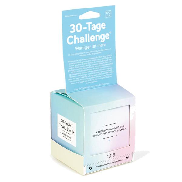 Weniger ist mehr, 30-Tage Challenge