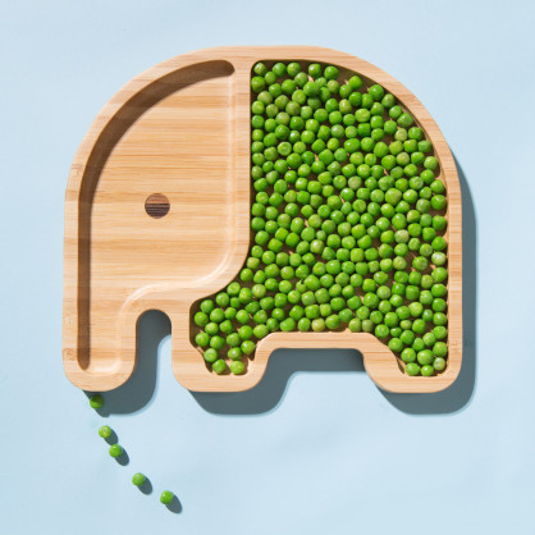 Bambusteller, Kinderteller und/oder Frühstücksbrett Elefant. Design Bambus Plate ELLI von Donkey Products.