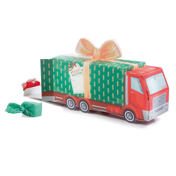 Geschenkbox Lastwagen - XMAS GIFT TRUCK von Donkey Products. Geschenkverpackung Papp-Auto Weihnachten.