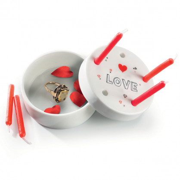 LOVE Porzellandose mit Kerzenhalterung - Candle to go Deluxe