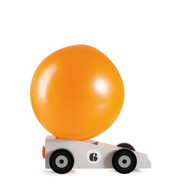 Luftballon Auto Silverstar aus Holz von donkey products.
