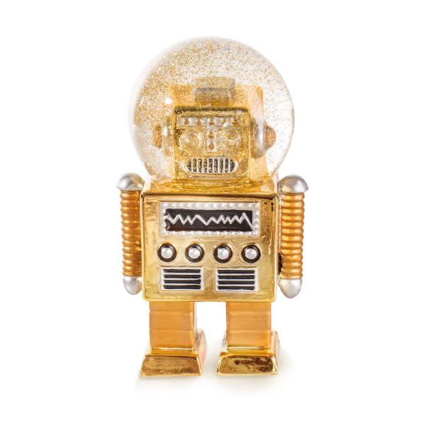 Glitzerkugeln / Schneekugel Roboter gold - Summerglobe The Robot - donkey products