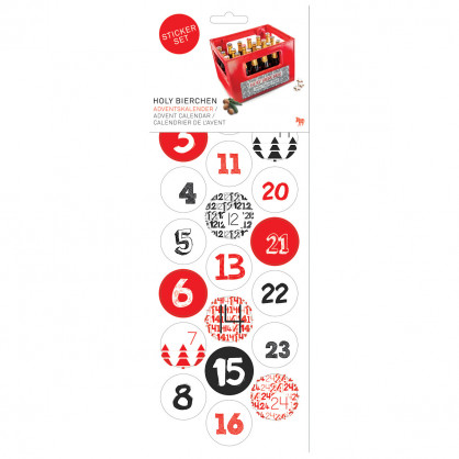Stickerbogen - Holy Bierchen - Adventskalender