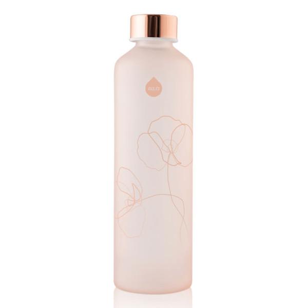 Equa MISMATCH Trinkflasche BLOOM. Mattierte Glasflasche rosa. Trinkflasche Borosilikatglas mit Schraubverschluss.