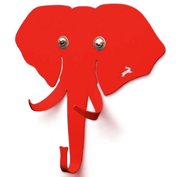 Kindergarderobe / Tiergarderobe Elefant rot