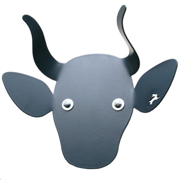 Kindergarderobe / Tiergarderobe Kuh anthrazit