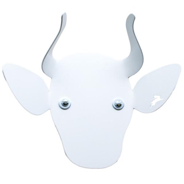 Kindergarderobe / Tiergarderobe Kuh weiß