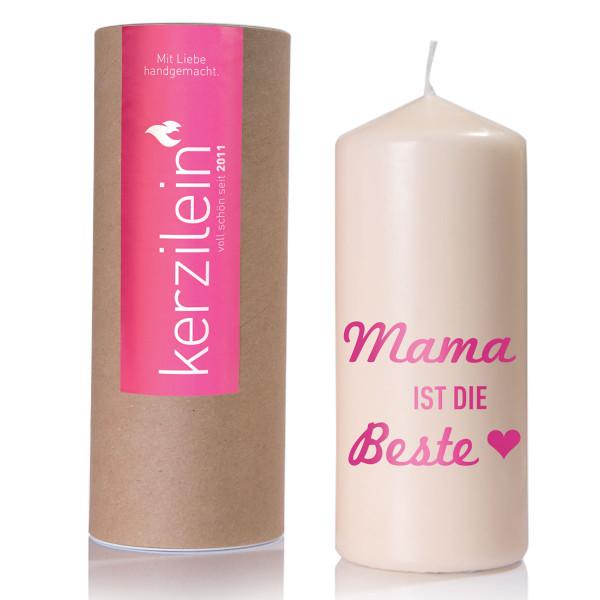 Kerze - Mama ist die Beste, pink