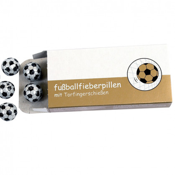 liebeskummerpillen Fussballfieberpillen: Kaugummifussbälle mit Spielanleitung in einer netten Geschenkschachtel.