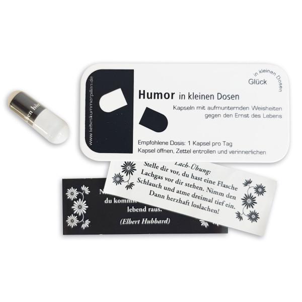 liebeskummerpillen Humor in kleinen Dosen - 7 nette Sprüche in kleiner Kunststoffbox.