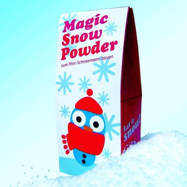 Magisches Schneepulver Magic Snow Powder zum Mini-Schnee-Mann bauen von liebeskummerpillen.