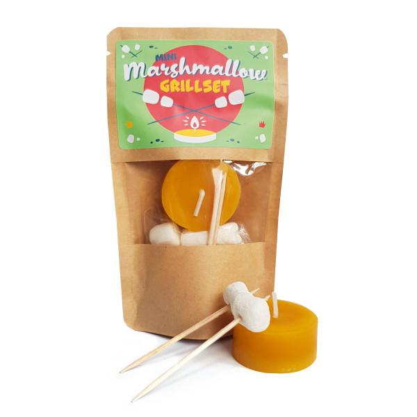 Mini Marshmallow Grillset im kleinen Tütchen von liebeskummerpillen. Grilltüte zum selber genießen und verschenken!