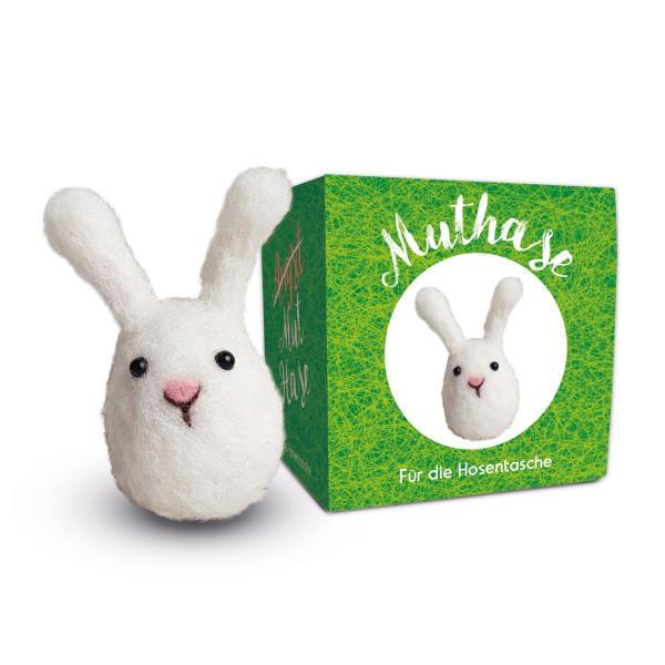 Muthase Filz Hase Ostern - Kleines Häschen in der Geschenkschachtel von liebeskummerpillen - Anhänger Filzhase.