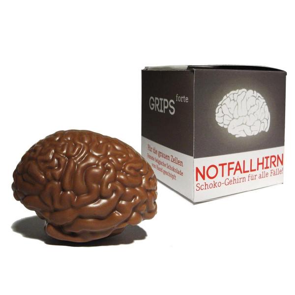 Notfallhirn von liebeskummerpillen: Schoko-Gehirn für alle Fälle, aus feinster belgischer Schokolade, von Hand geschöpft.