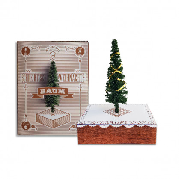 Schreibtisch Weihnachtsbaum - Bäumchen in der Faltschachtel - liebeskummerpillen