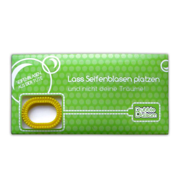 liebeskummerpillen Seifenblasen Lass Seifenblasen platzen - Mini Tüte mit Seifenblasenflüssigkeit und Seifenplasen-Pustering.