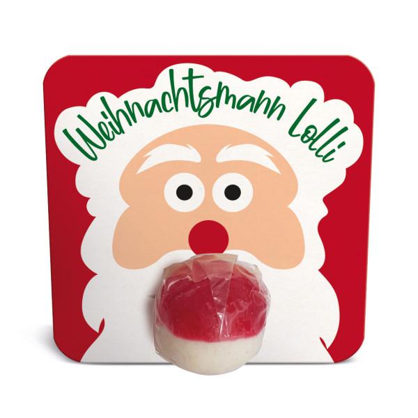 Weihnachtsmann Lolli - Mitbringsel zur Weihnachtszeit, zum Wichteln, für den Adventskalender ... der leckere Brausekugel-Lolli von liebeskummerpillen