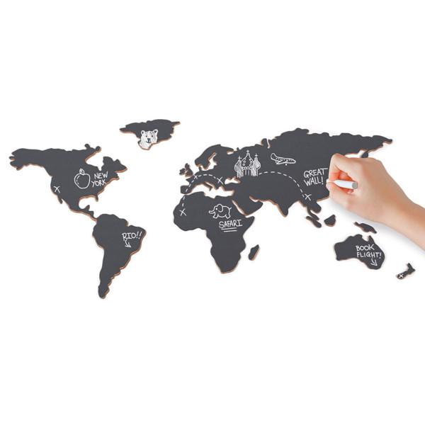 Tafel im Welkartenformat: die Chalkboard Map von luckies