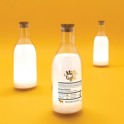 Milchflasche LED Lampe, Milk Light von luckies.