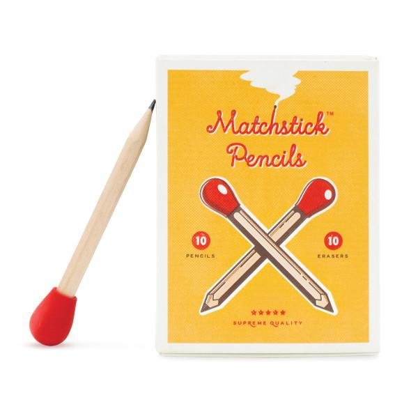 Matchstick Pencils von luckies - Streichholzschachtel und Stift im Zündholz-Design.