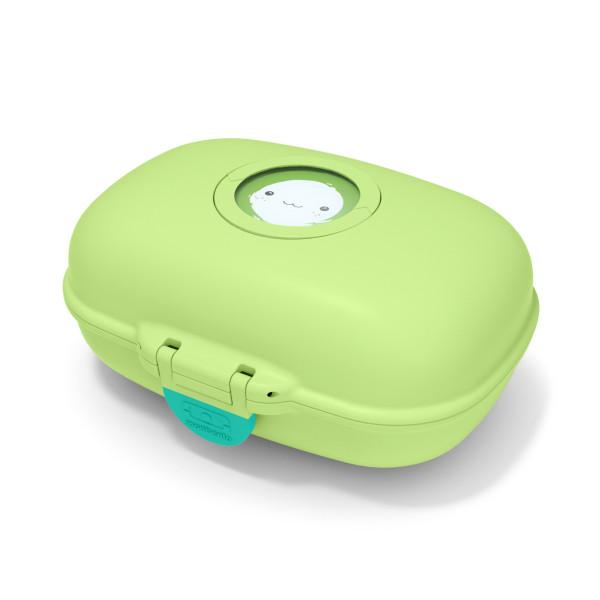 Kinder Snackbox MB GRAM, Apple grün - kleine Kinderlunchbox: spülmaschinengeeignet, BPA-frei ➤ Lässt sich mit Namen / Bild individualisieren.