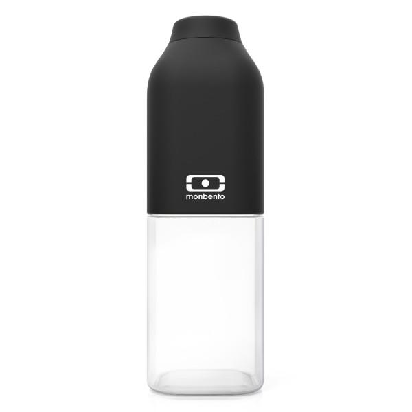 MB POSITIV M von monbento Design - Trinkflasche schwarz - Volumen 0,5 Liter - aus Tritan Kunststoff - BPA frei, auslaufsicher, robust, spülmaschinenengeeignet uvm.