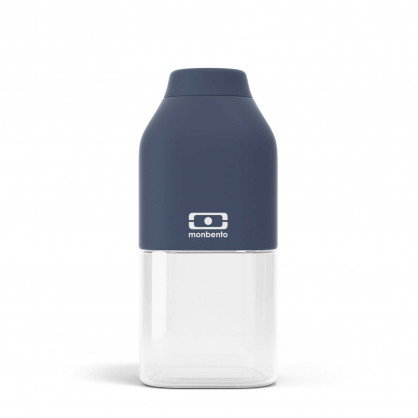 monbento Trinkflasche to-go MB POSITIVE S, 330 ml - blau - Kunststoff Trinkflasche - Kindertrinkflasche
