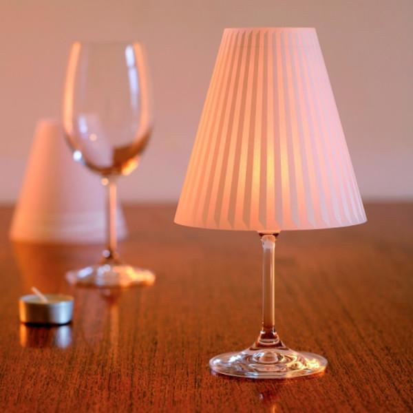 Lampenschirme SCHÖNE HELENE für Weingläser - 3er Set
